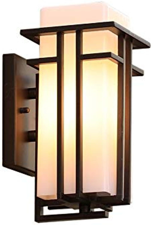 Wylolik Einfache Moderne Restaurant Dekoration Wandhalterung Licht 11,8 Zoll Schwarz Rechteckigen Stahlrahmen Mit Frost Glas Wandleuchte Terrasse Gartenbeleuchtung Wandleuchte Korridor Abenddmmerung