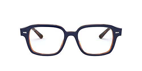 Ray-Ban 0rx5382-5910-52 Gafas, BLUE ON HAVANA RED, 52 Unisex