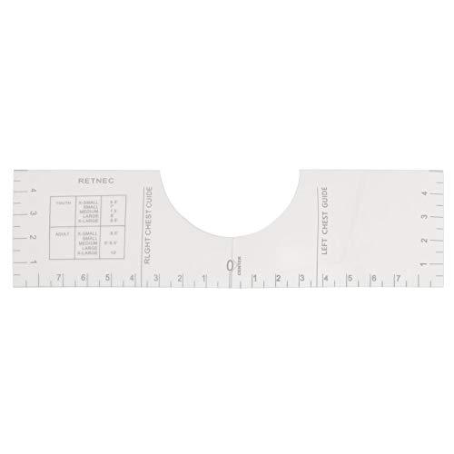 T-Shirt Ausrichtungswerkzeug Hochgenaue T-Shirt Ausschnitt Messgerät Für T-Shirt-Ausrichtungs-HTV-Werkzeug Und Vinyl-T-Shirt-Platzierung Grafische Anleitung,45 X 13 Cm