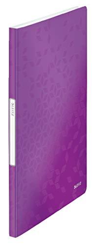 Leitz 46310062 Sichtbuch wow, A4, PP, 20 Hüllen, violett