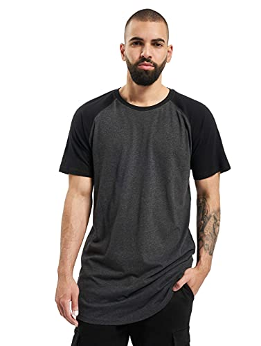 Urban Classics Herren Shaped Raglan Long Tee T-Shirt, cha/blk, XX-Large
