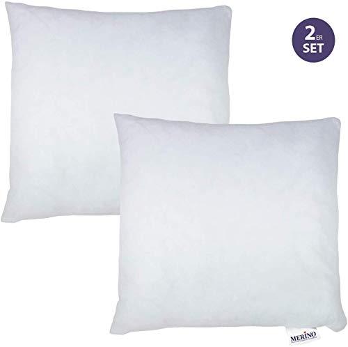 MERINO BETTEN Kissen   Dekokissen   Couchkissen   Kissen mit Reißverschluss (weitere verfügbar) (2er Set 80 x 80)