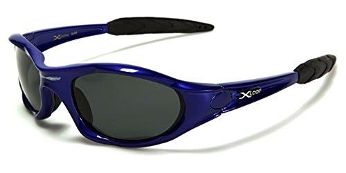 X-Loop Polarizzato xloop Sport Ciclismo Pesca Golf Wrap Around Esecuzione degli Occhiali da Sole + Monogram Microfibra Pouch 55 5.25w x 1.625h Blu