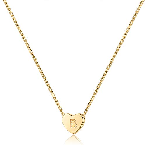 S925 Sterling Silver Heart Initial Necklace $6.99 (50% Off with code)