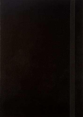 BRUNNEN 1079766901 Buchkalender Modell 797 Kompagnon, 2 Seiten = 1 Woche, 16,8 x 24,0 cm, Baladek-Einband schwarz, Kalendarium 2021