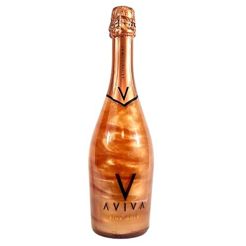 Aviva Pink Gold - Colore Oro Rosa, Bevanda Alcolica Aromatizzata, Gradazione 5,5% 75CL