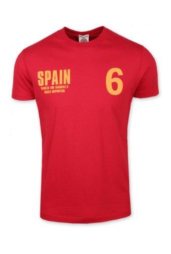 Franklin Marshall - Camiseta Mundial Hombre - Color: Rojo (L)