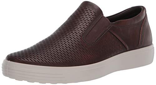 ECCO mens Soft 7 Premium Slip-on Sneaker, Cognac, 11-11.5 US