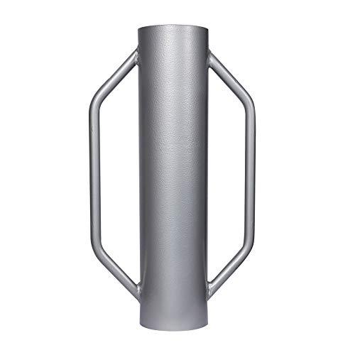 Handramme ⌀14cm 13,5kg mit Handgriffe, für Zaunbau & Bodenverdichtung, aus Stahl
