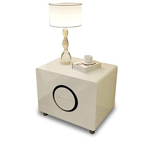 ZXPzZ Comodino con 2 Cassetti Comodino Comodino Home Storage Unit Comodino Comodino per Camera da Letto Bianco (Color : Ivory White)