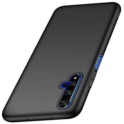 anccer Kompatibel mit Huawei Honor 20 Hülle, Huawei Nova 5T Hülle [Serie Matte] Elastische Schockabsorption & Ultra Thin Design für Huawei Honor 20 / Nova 5T (Glattes Schwarzes)
