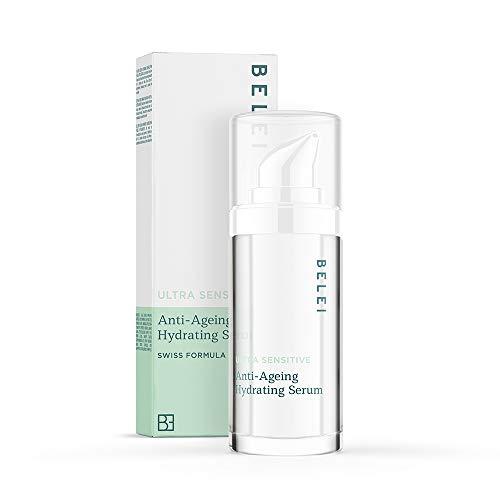 Marca Amazon - Belei Sérum hidratante antiedad para pieles ultrasensibles, 30ml