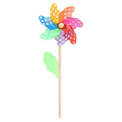 KOFUN Fileur De Vent, Coloré Pinwheel Vent Vent Spinner Moulin À Air Maison Jardin Jardin Décor Enfants Jouets Point De 18 Cm