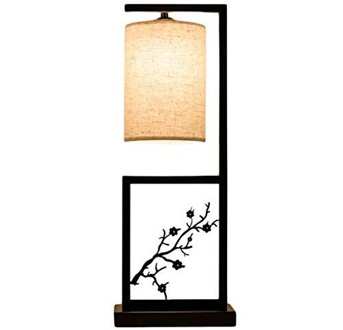 LYB Stehlampe Modern Stehleuchte Chinese Carving Wohnzimmer Stehleuchte Push Button Switch Schlafzimmer Nachttischlampe Innenbeleuchtung E27 (Size : 59cm)