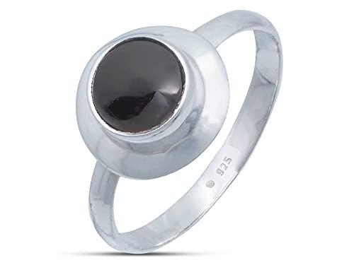 Anillo de plata de ley 925 ónice (No: MRI 190), Ringgröße:50 mm/Ø 15.9 mm