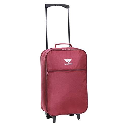 Slimbridge Cabin Carry-on Hand Luggage Suitcase Bag Ultra Lightweight 55 cm 0.95 kg 27 litres 2 Wheels, Barcelona Purple