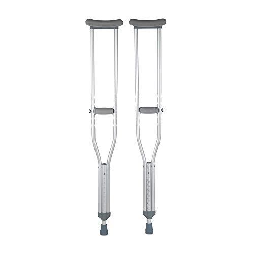 """McKesson Aluminum Adult Underarm Crutches 5' 2"""" to 5' 10"""" User Ht."""