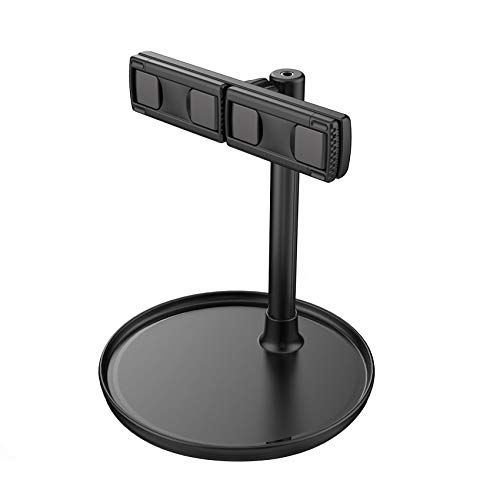 Cell Phone Stand Universal Tablet Dock, Height Adjustable Sturdy All Aluminum Alloy Stable Phone Holder for Desk, Compatible with iPad/Mobile Phone 4.7'-15.6' Screen