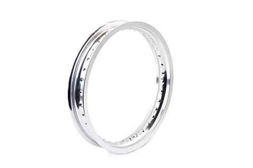 Felgenring, Felge 2,15 x 16 Zoll, Aluminium eloxiert poliert, 36 Loch für Simson S51 S50 MZ ETZ