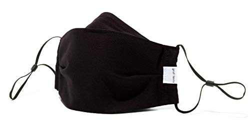 Graf Lantz Zenbu Organic Cotton Face Mask - Regular Over Ear with Adjusters - Reusable & Machine...