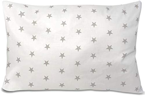 BALBINA Kinder Kissenbezug Kissenhülle Baumwolle Deko Muster (Sterne Weiß, 40x60 cm)
