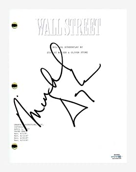 Michael Douglas Signed Autographed WALL STREET Movie Script Screenplay ACOA COA