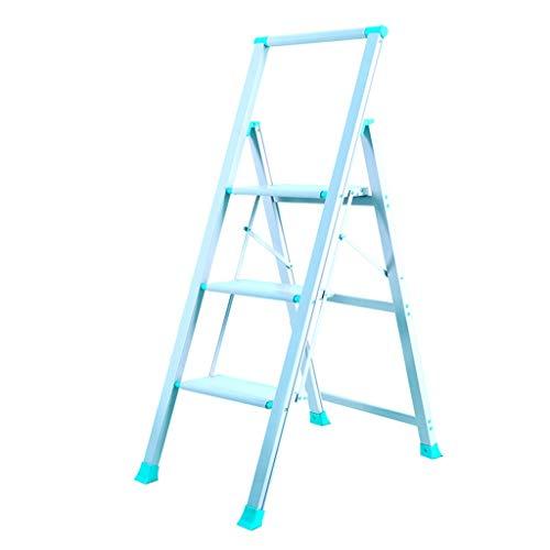 Escalera plegable Aleación de aluminio de tijera, de 3 pasos y 4 pasos de escalera Inicio de escalera de tijera Almacén multifuncional plegable de tijera Multifuncional