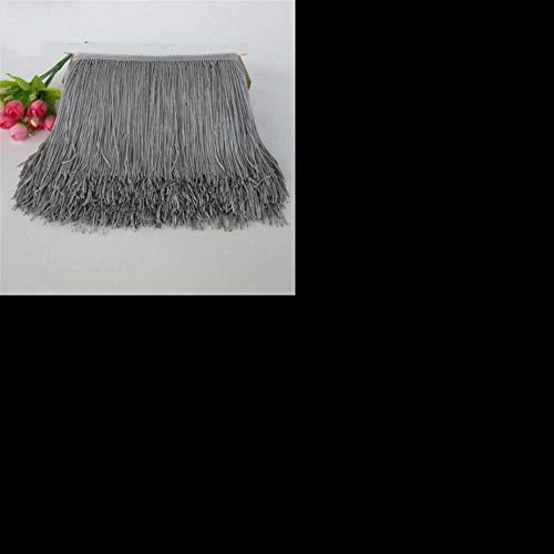 1 meter 15cm lange franje kant kwast polyester kant trim lint latin dans rok gordijn franjes voor het naaien van diy accessoires, grijs