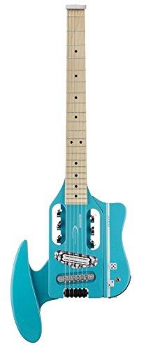 Traveler Guitar SPD HRR V2Speedster HOT-ROD eléctrica guitarra de viaje con Gig Bag, Rojo