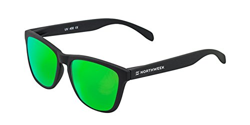 NORTHWEEK Gafas de sol Mate black - logo blanco | lente verde polarizada