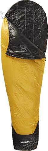 Nordisk - Oscar Schlafsack, Leichter Kunstfaser-Schlafsack mit kleinem Packmaß, weiterer Mumienschlafsack, Grösse XL, -2 Grad, Gelb
