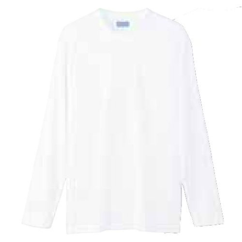 (ドライ+デオドラント)DRY+D 吸汗速乾ドライ生地と消臭テープ 高機能長袖Tシャツ (L, ホワイト)