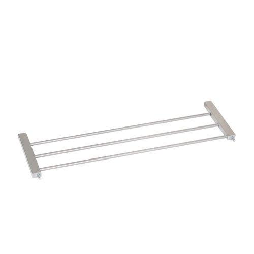 Hauck Wood Lock Estensione per Cancelletto di 21 cm, Porte e Scale da 75 a 80 cm, Grigio Argento