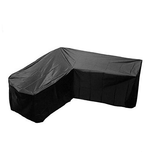 Outdoor Furniture Cover,L-Shaped Heavy-Duty Windproof Waterproof Dustproof UV-Proof Sofa Protective Cover for Outdoor Patio Sofa,215 * 215 * 87cm