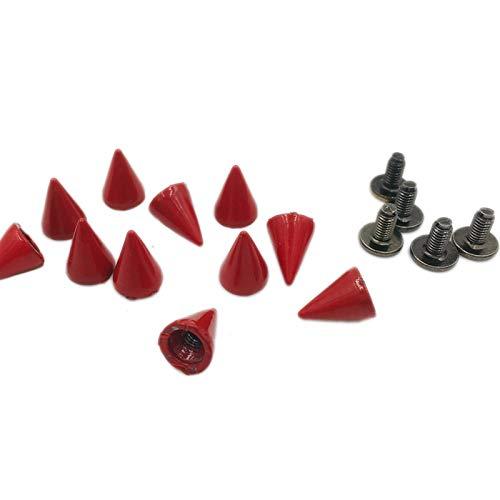 Remaches de metal 200sets 7x10mm rojo pintado punk picos cono manchas de cono studs de metal picos remaches de cebolla ropas bolsas correa collares de mascotas reparado (Color : Red)