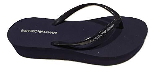 Emporio Armani Swimwear Flip Flop Essential, Chanclas Mujer, Azul Marino, 34 EU