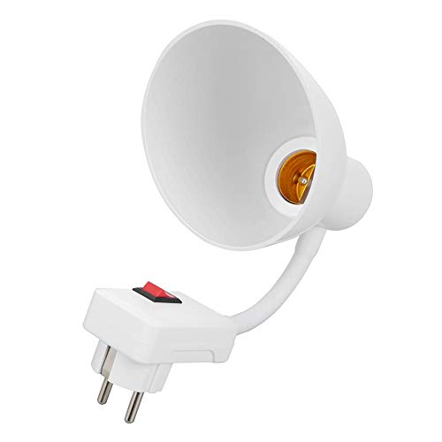 Domybest portalámparas E27, rotación de 360 grados, soporte de casquillo E27, adaptador de bombilla, flexible, enchufe de pared con interruptor