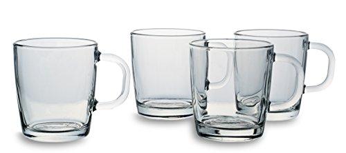 Bohemia Cristal 093 006 138 Cappuccinogläser ca. 290 ml aus Kalk-Natron-Glas 4er Set