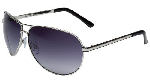 Klassische Marken Sonnenbrille für Herren von Burgmeister mit 100% UV Schutz   Sonnenbrille mit stabiler Metallfassung, hochwertigem Brillenetui, Brillenbeutel und 2 Jahren Garantie   SBM101-111