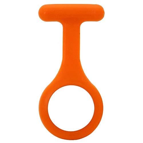 tumundo Custodia Singola in Silicone per Infermiera Orologi Accessori Nurse Paramedico Spilla Donna Unisex Bianco Rosso, Modello:Arancio
