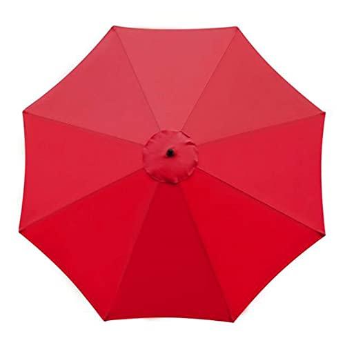 Toldo de repuesto para sombrilla de 3 m, grande, 8 costillas, para exteriores, para el mercado, para patio, jardín, playa,...