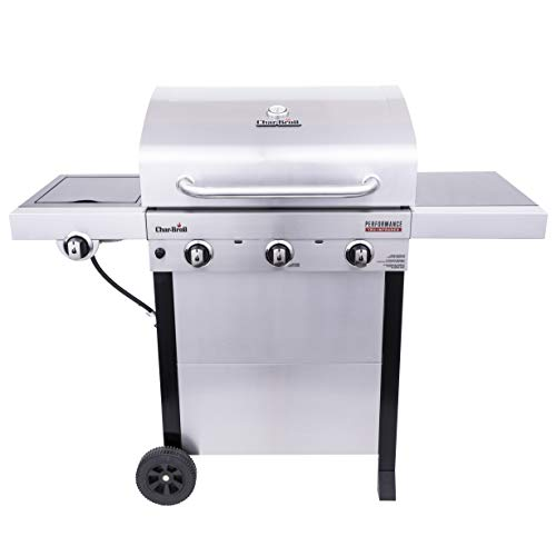 Char-Broil 463370719 Performance TRU-Infrared 3-Burner Cart Style Gas Grill, Stainless Steel