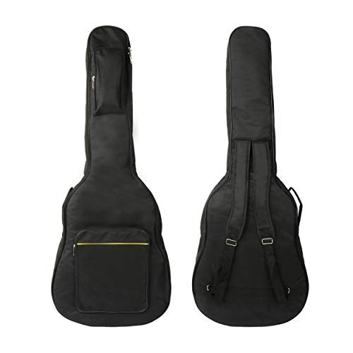 Gitarrentasche Gig Bag Wasserdicht Gitarre Tasche Gitarren Bag Guitar Case Gitarrenhülle für Akustikgitarre Klassikgitarren 40 41 Zoll Tasche Für Gitarre Rucksack 6MM Gepolsterte