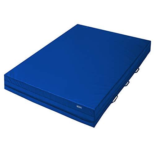 ALPIDEX Weichbodenmatte 300 x 200 x 30 cm mit 6 Tragegriffen und Anti-Rutschboden, Farbe:dunkelblau