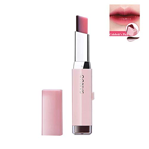 1 STÜCK Make-Up Lippenstift Zwei Töne Langlebige Feuchtigkeitsspendende Gradient Lipstick Lip Blam Wasserdichte Farbton Lip Bar Kosmetik Geschenk Für Frauen Mädchen (8 Cherry Milk)