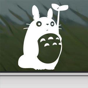 1 X Totoro White Sticker Decal Studio Ghibli White Car Window Wall MacBook Notebook Laptop Sticker Decal
