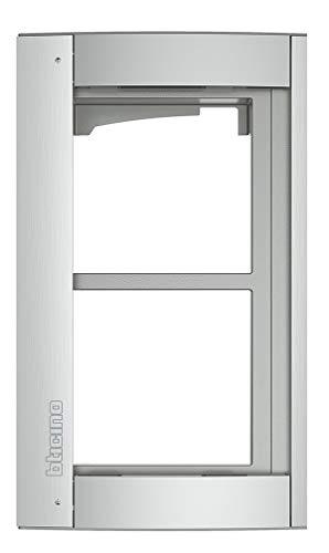 Abdeckrahmen 2-modulig inkl. Modulträger für die Türstation SFERA Aluminium (Allmetal)