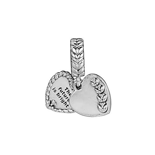 LIIHVYI Pandora Charms para Mujeres Cuentas Plata De Ley 925 Joyas Colgantes En Forma De Corazón De Bright Seeds Compatible con Pulseras Europeos Collars