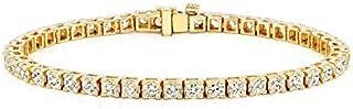 Yellow Gold Plated Treats Gold Tennis Bracelet for Women,