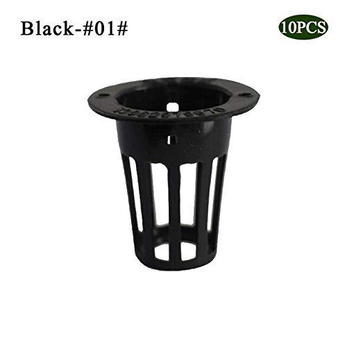 ADSIKOOJF 10 stks Heavy Duty Mesh Pot Net Cup Mand Hydroponische Plant Groei Tuin Kloon Tuin Tool Planten Kwekerij Pot Zwart